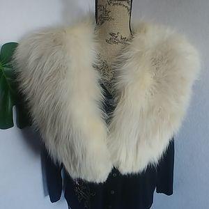 Vintage Full Fluffy Real Fur Collar
